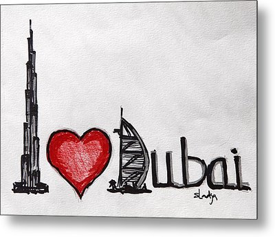 I Love Dubai Metal Print
