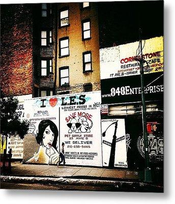 I Love The Lower East Side - New York City Metal Print