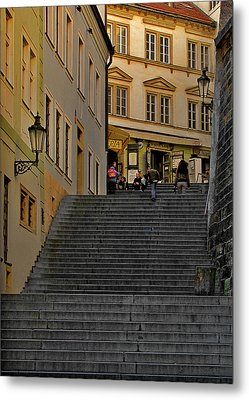 I Walked The Streets Of Prague Metal Print by Christine Till