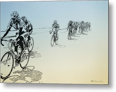I Want To Ride My Bicycle Metal Print by Bill Cannon