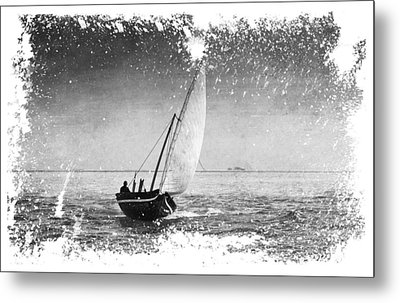 I Want To Ride On The Wind. Dhoni Boat. Maldives Metal Print by Jenny Rainbow