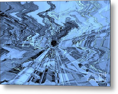 Ice Blue - Abstract Art Metal Print by Carol Groenen