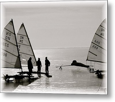 Ice Boats Metal Print by Susan Elise Shiebler