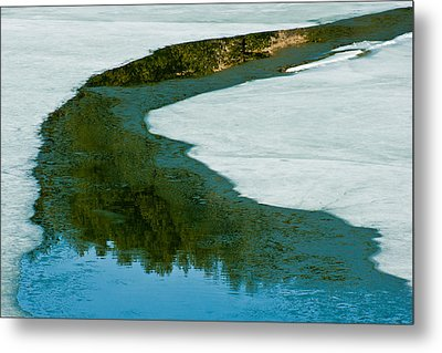 Ice Borders Metal Print by Colleen Coccia