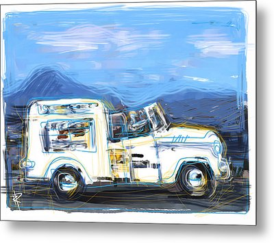 Ice Cream Truck Metal Print by Russell Pierce