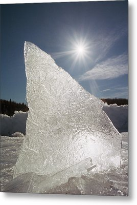 Ice Formation Along The Bow River Metal Print by Darwin Wiggett