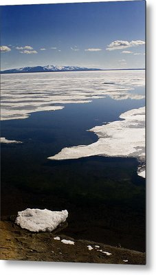 Metal Print featuring the photograph Ice On Yellowstone Lake by J L Woody Wooden