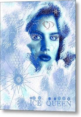 Ice Queen Metal Print by Methune Hively