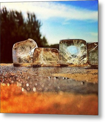 Ice Metal Print by Samuel Gunnell