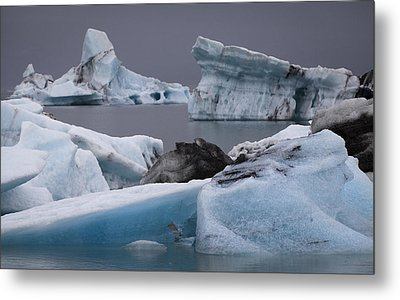 Icebergs Metal Print by Arnar B Gudjonsson