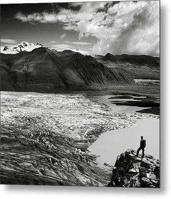Iceland Glacier Tongue Metal Print