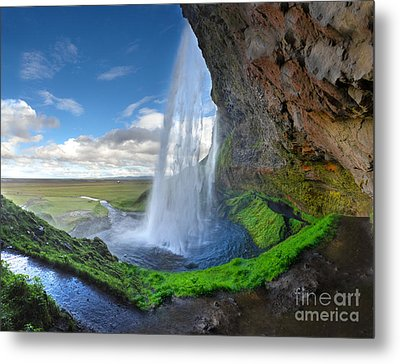 Iceland Waterfall Seljalandsfoss 02 Metal Print by Gregory Dyer