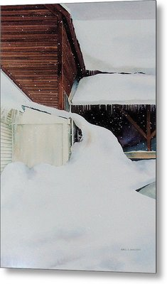 Metal Print featuring the painting Icicles by Karol Wyckoff