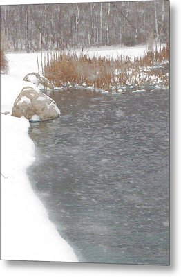Metal Print featuring the photograph Icy Pond by John Crothers