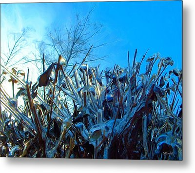Metal Print featuring the digital art Icy Shell by Dennis Lundell
