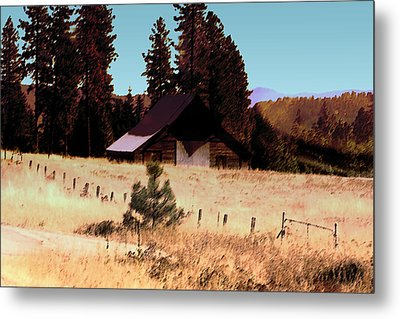 Idaho Barn Painting Metal Print by Mary Gaines