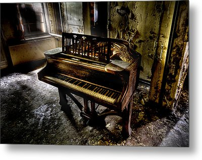 If Music Be The Food Of Love.... Metal Print by Steven Coppenbarger