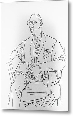 Igor Stravinsky, Russian Composer Metal Print by Omikron