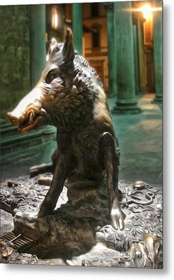 Il Porcellino - Florence Italy Boar Statue Metal Print