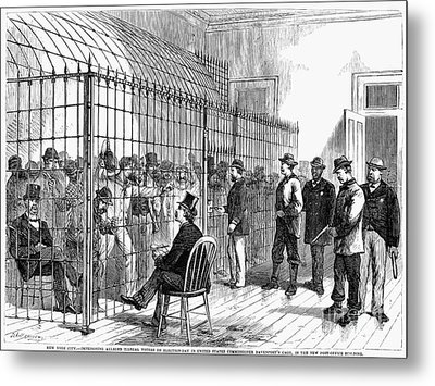 Illegal Voters, 1876 Metal Print by Granger