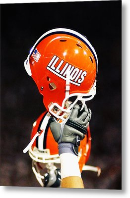 Illinois Football Helmet  Metal Print