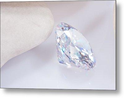 Illuminate Diamond Metal Print by Atiketta Sangasaeng