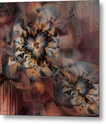 Metal Print featuring the digital art Illusion by Kim Redd
