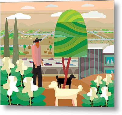 Illustration And Painting In Scottsdale Metal Print by Charles Harker