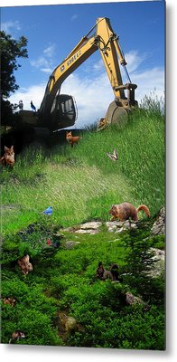 I'm A Steamroller Baby Gonna Roll Right Over You Metal Print by Ric Soulen