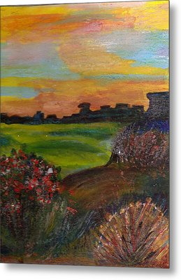 Imaginary View Of Golf Course Metal Print by Anne-Elizabeth Whiteway