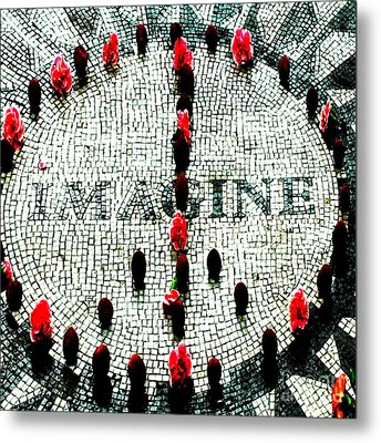 Imagine Peace Licensing Art Metal Print by Anahi DeCanio