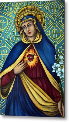 Immaculate Heart Metal Print by Valerie Vescovi
