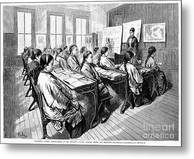 Immigrants: Chinese, 1876 Metal Print by Granger