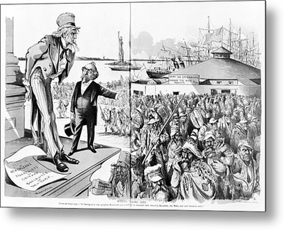 Immigration, Where The Blame Lies Metal Print by Everett
