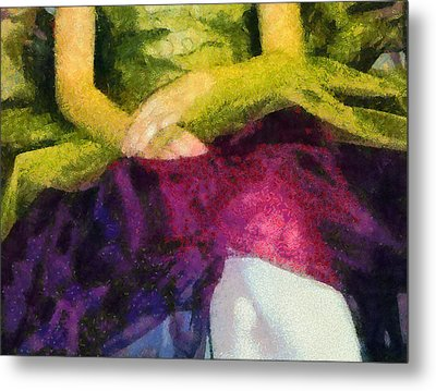 Impression Of A Ballerina Lap Metal Print by Angelina Vick