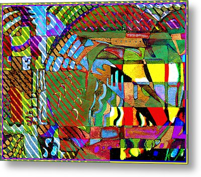 Improvisation Metal Print by Mindy Newman