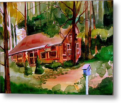 In A Cottage In The Woods Metal Print by Mindy Newman