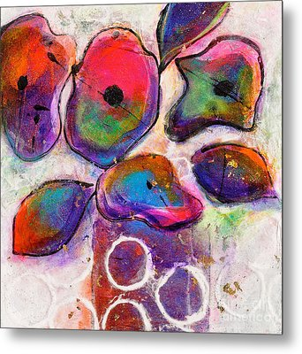 In Full Bloom White Bright Light Metal Print by Johane Amirault