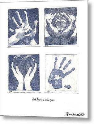 In His Hands Metal Print by Amanda McIntyre