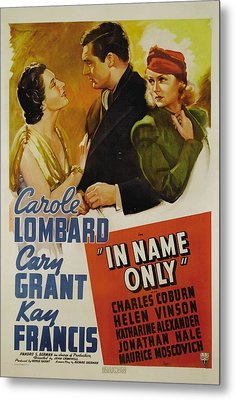 In Name Only, From Left Kay Francis Metal Print by Everett