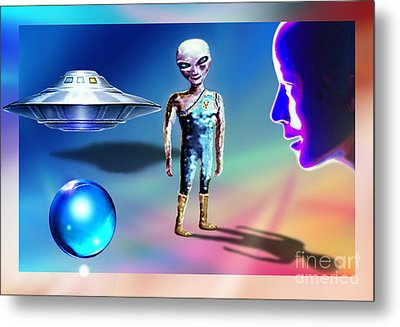 In Space... Metal Print by Hartmut Jager