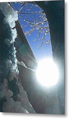 Metal Print featuring the photograph In The Cold Of The Sun by Steve Taylor