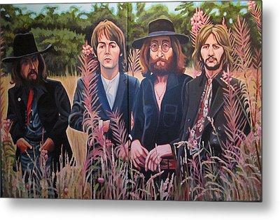 In The Field The Beatles Metal Print by Sandra Ragan
