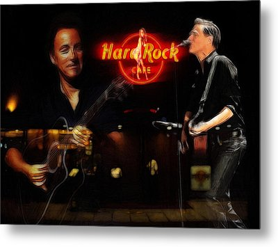 In The Hard Rock Cafe Metal Print by Steve K