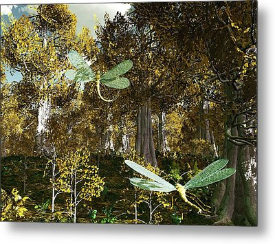 In The Mallorn Wood Metal Print by Diana Morningstar