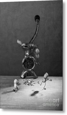In The Meat Grinder 02 Metal Print