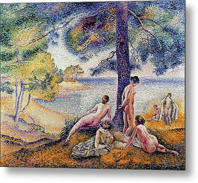 In The Shade Metal Print by Henri-Edmond Cross