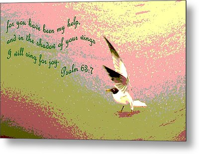 In The Shadow Of Your Wings Metal Print