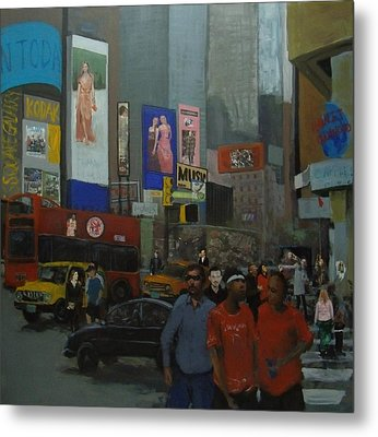In The Time Square  Metal Print by Rahman Shakir