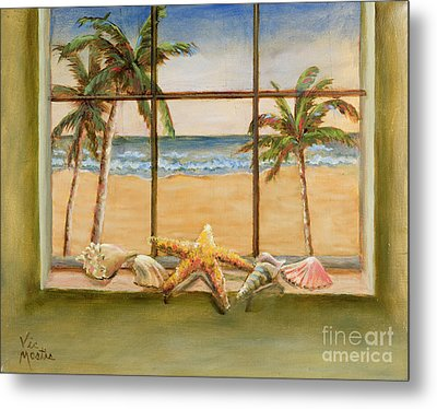 Metal Print featuring the painting In The Tropics by Vic  Mastis